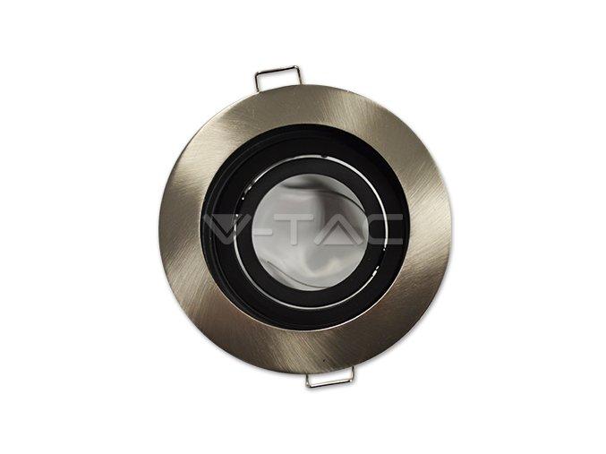 Oprawa na GU10, okrągła, nastawna, SATIN NIKEL