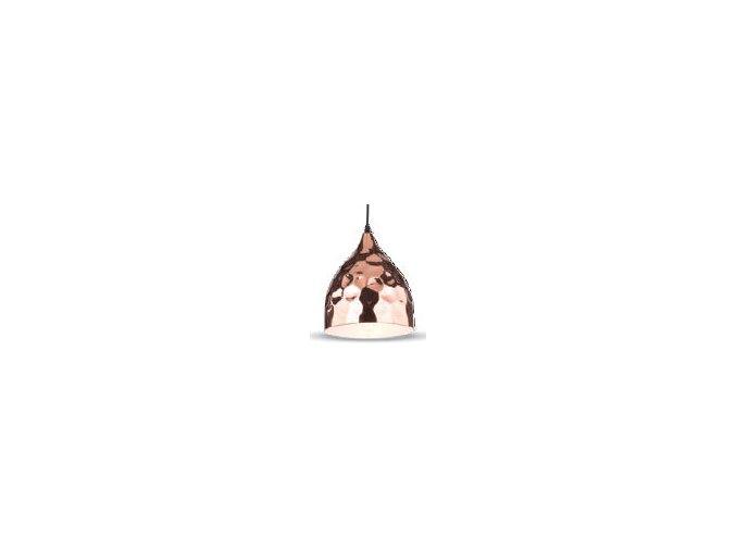 Lampa wisząca LED, E27, różowe złoto, Ø230mm