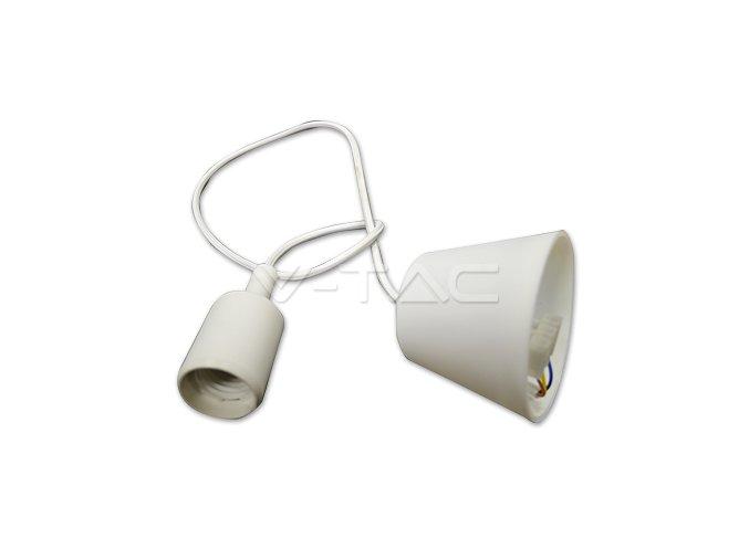 Lampa wisząca LOFT E27 z rozetą, biała