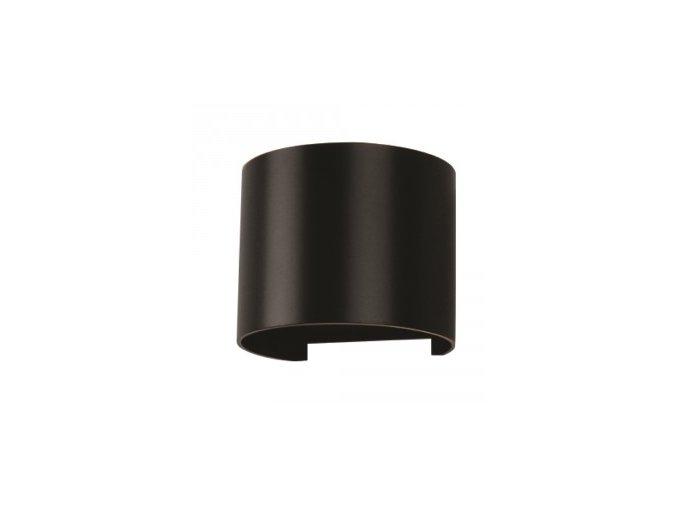 Kinkiet LED 6W, czarny, okrągły, IP65