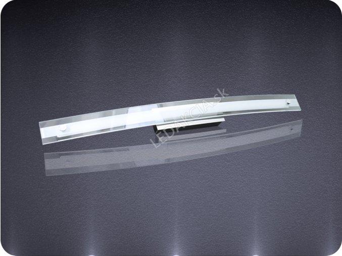 Kinkiet łazienkowy LED, 12W, 4000K, chrom / szkło,
