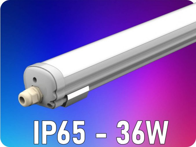Wodoodporna lampa 36W (2880lm), 120cm, IP65