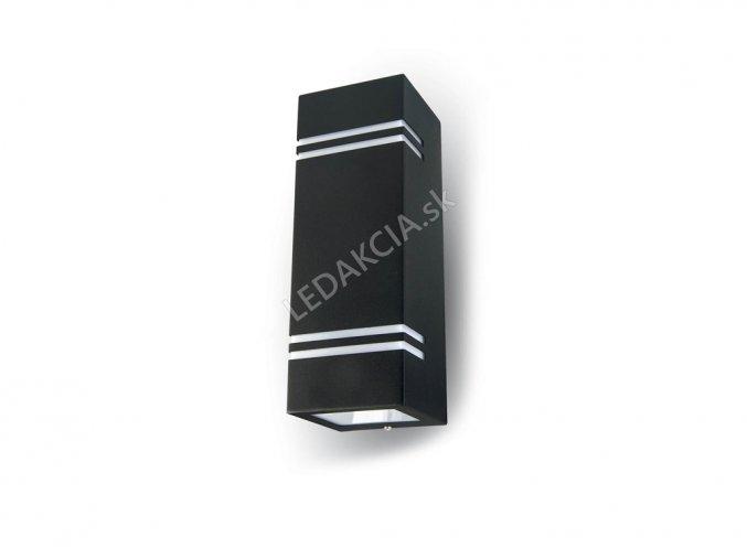 Kinkiet LED GU10, czarny, podwójny