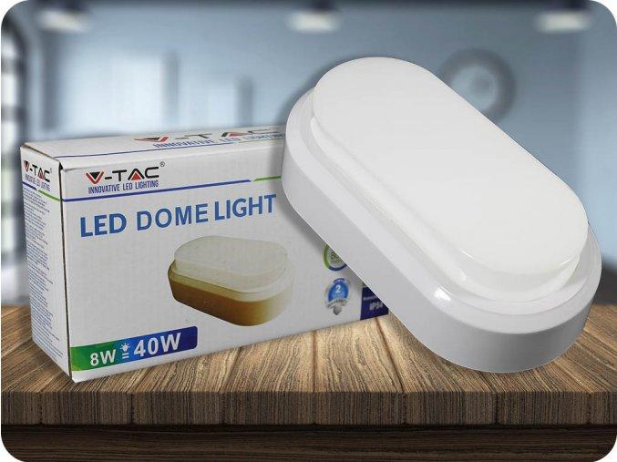 Lampa sufitowa/ścienna LED 8W, 560Lm, IP54, biała