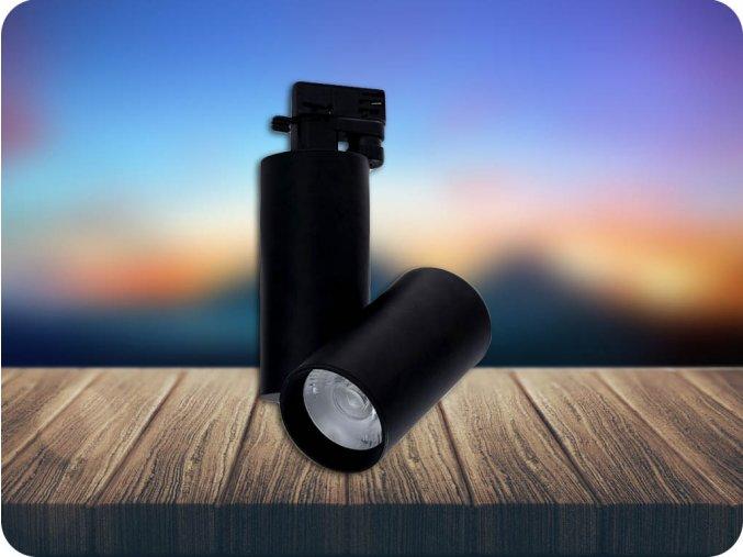 LED LAMPA SZYNOWA 30W, (2700LM), czarna