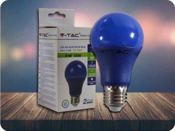 E27 LED kolorowa Żarówka 9W (120LM) - niebieska