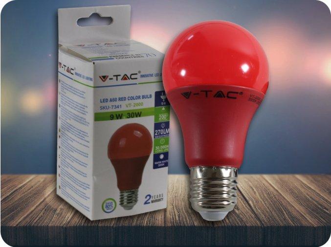 E27 LED kolorowa Żarówka 9W (270LM) - czerwona