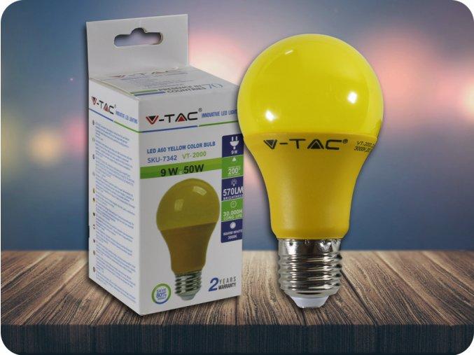 E27 LED kolorova Żarówka 9W (570LM) - żółta