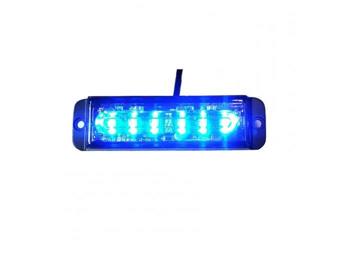 Lampka ostrzegawcza LED 6-LED, niebieska, 12-24 V