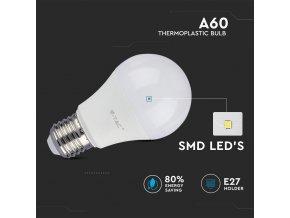 E27 LED ŻARÓWKA 9W (806LM), A60 – 3 PACK (Barwa Swiatla Zimna biała       6400K)