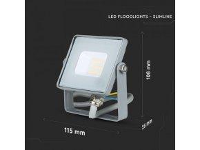 LED NAŚWIETLACZ 10W (800LM), SAMSUNG CHIP - GWARANCJA 5 LAT! (Barwa Swiatla Zimna biała    6400K)