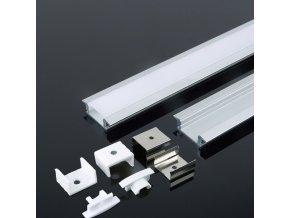 Aluminiowy profil 2M do Taśm LED, 24,7x7mm