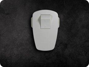 Wtyczka z wyłącznikiem bez kabla, biała, 250V