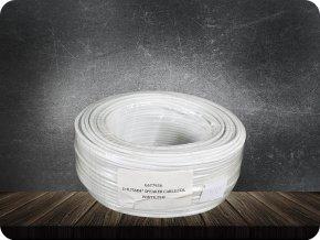 PRZEWÓD DWUŻYŁOWY CCA 2x0,75 mm2, biały