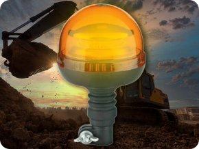LED lampa ostrzegawcza 36W, 12-24V, pomarańczowa
