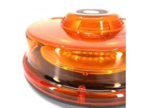 LED lampa ostrzegawcza z magnesem, 12-24V, pomarańczowa