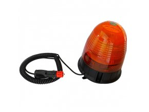 LED Lampa ostrzegawcza z magnesem 16x3W, 12-24V, pomarańczowa