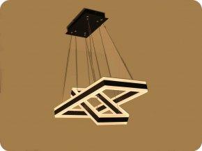 LED Lampa wisząca 100W (7500LM), czarna, miękkie światło (3000K), ściemnialna