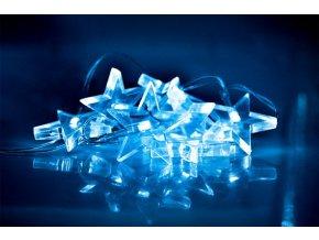 Świąteczny łańcuszek LED Christmas, gwiazdy, 1,5 m, 10x LED, 2x AA, niebieskie światło
