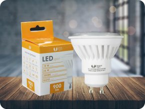 Żarówka LED GU10 10 W (900 Lm), 120°, 3000K