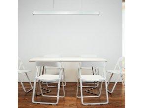 Liniowa lampa wisząca LED 40W, biała lub srebrna, SAMSUNG chip, 4000K (Kolor Chrom)