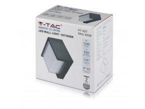 Lampa ścienna / sufitowa LED 12W (1200 lm), IP65, kwadratowa (Barwa Swiatla Neutralna biała 4500K)