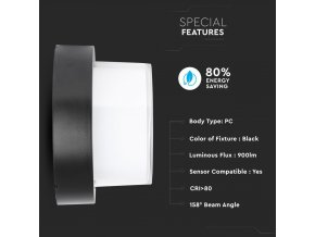 Lampa ścienna / sufitowa LED 12W (1200 lm), IP65 (Barwa Swiatla Neutralna biała 4000K)