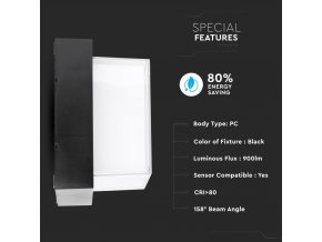 Lampa ścienna / sufitowa LED 12W (1200 lm), IP65, kwadratowa (Barwa Swiatla Neutralna biała 4000K)