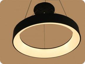 LED Lampa wisząca  30W (2250LM), czarna, 3000K