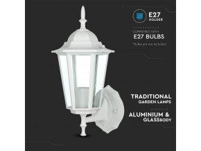Elewacja ogrodowa/lampa górna 1xE27, biała, IP44