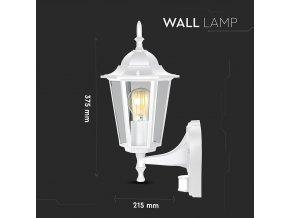Elewacja ogrodowa/lampa górna z czujnikiem 1xE27, czarna i biała, IP44 (Kolor Biały)