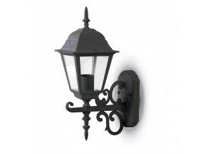 Lampa elewacyjna ogrodowa 1xE27, czarna i biała, IP44