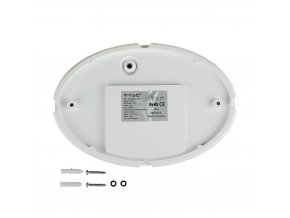 Lampa LED owalna, sufitowa / ścienna 12W (840Lm), IP54, biała