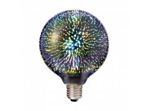 Żarówka LED E27 3D 3W (25Lm), G125, 3000K