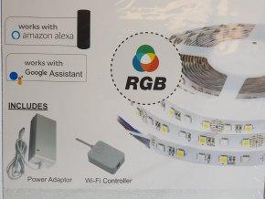 Taśma LED do wnętrz 10W, RGB, 60 LED, WIFI kompatybilna z AMAZON ALEXA + GOOGLE HOME