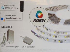 Taśma LED do wnętrz 10W, RGB+W, 60 LED, WIFI kompatybilna z AMAZON ALEXA + GOOGLE HOME