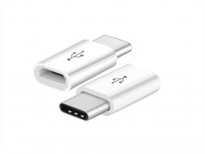 Adapter Micro USB -> USB-C, biały