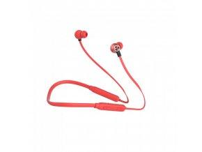 Sportowe słuchawki głośnomówiące Bluetooth, 500mAh, czerwone