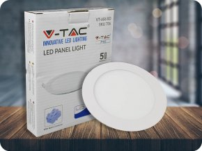 Wbudowany panel LED 6W z zasilaczem, okrągły (420Lm), SAMSUNG Chip