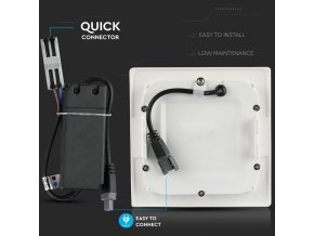 Wbudowany panel LED o mocy 18W z zasilaczem, kwadratowy (1500Lm), chip SAMSUNG