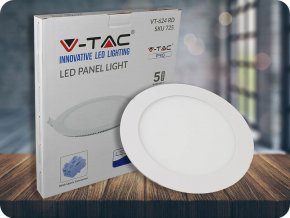 Wbudowany panel LED 24W z zasilaczem, okrągły (2000Lm), SAMSUNG Chip