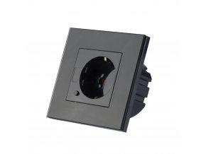 Gniazdo kontrolowane przez WIFI, czarne, kompatybilne z AMAZON ALEXA + GOOGLE HOME