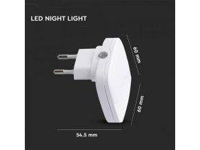 Lampka nocna LED 0,5 W do gniazda, kwadratowe, SAMSUNG Chip
