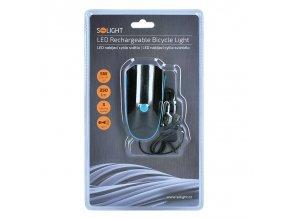 Solight LED Latarka rowerowa, 250lm, róg, Li-ion
