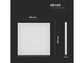 LED  PANEL 25W (4000 LM), 160lm/W, 120°, kwadrat