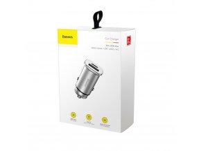 Baseus ładowarka samochodowa PPS QC 4.0+ USB + PD, srebrna
