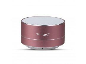 Metalowy głośnik BT 3W z mikrofonem, różowe złoto 400mAh bateria 5V