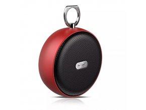 Przenośny głośnik BT 4 W, Micro USB 800 mAh, 5 V czerwono-czarny
