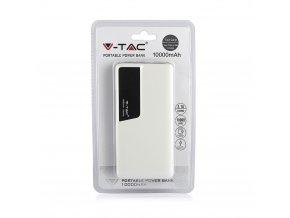 Powerbank z wyświetlaczem cyfrowym, 10 000 mAh, USB C, biały