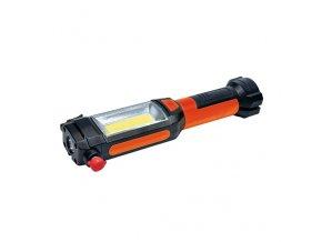Wielofunkcyjna lampa LED Solight, 3W COB + 1W LED, klips, magnes, elastyczny, 3xAAA